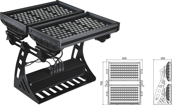 Guangdong udhëhequr fabrikë,të udhëhequr gjirin e lartë,Rondele me ndriçim LED 500W IP65 DMX 2, LWW-10-206P, KARNAR INTERNATIONAL GROUP LTD