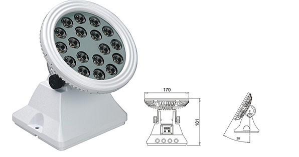 Led drita dmx,Dritat e rondele me ndriçim LED,25W 48W rondele e rrymës LED 1, LWW-6-18P, KARNAR INTERNATIONAL GROUP LTD